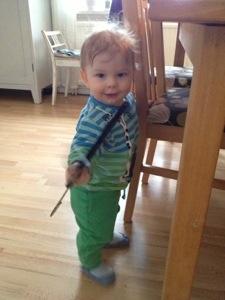 2013-01-24 Ivar leker med en galge
